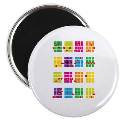 "Uke Chords Colourful 2.25"" Magnet (10 pack)"