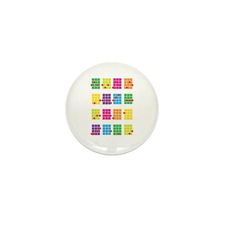 Uke Chords Colourful Mini Button (10 pack)