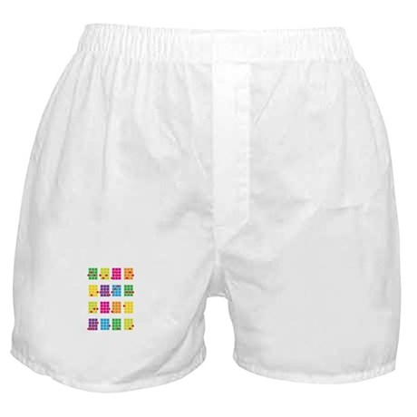 Uke Chords Colourful Boxer Shorts