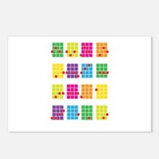 Uke Chords Colourful Postcards (Package of 8)