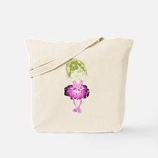 Cute Pink Ballet Dancer Art Tote Bag