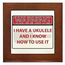 Warning I have a Ukulele Framed Tile