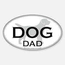 DOG DAD Oval Decal