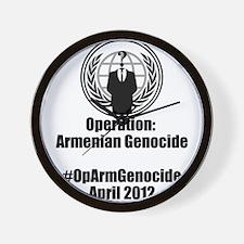 Operation Armenian Genocide Wall Clock