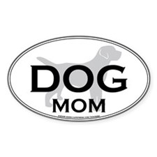DOG MOM Oval Decal