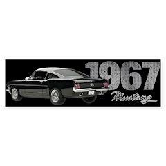 1967 Mustang Fastback Bumper Sticker