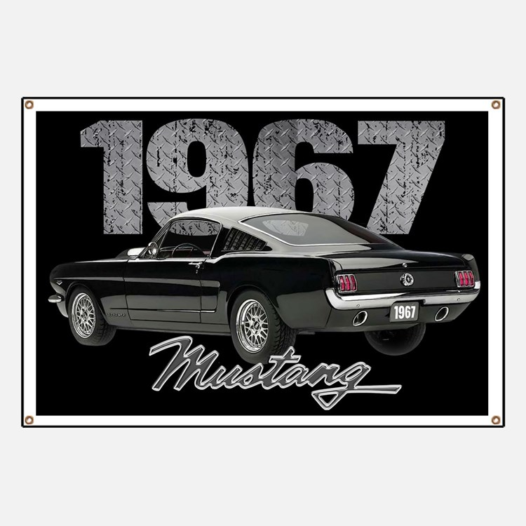 1967 Mustang Fastback Banner
