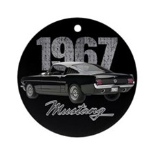 1967 Mustang Fastback Ornament (Round)