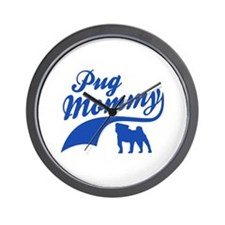 Pug Mommy Wall Clock