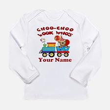 2nd Birthday Train Long Sleeve Infant T-Shirt