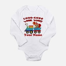 2nd Birthday Train Long Sleeve Infant Bodysuit