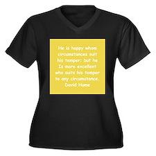 david hume Women's Plus Size V-Neck Dark T-Shirt
