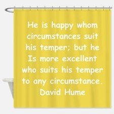 david hume Shower Curtain