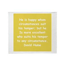david hume Throw Blanket