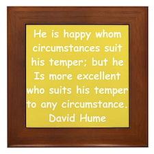 david hume Framed Tile