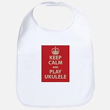 Keep Calm and Play Ukulele Bib