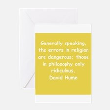 david hume Greeting Card