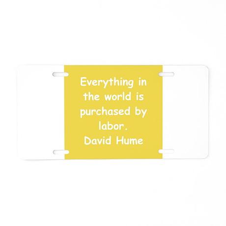 david hume Aluminum License Plate