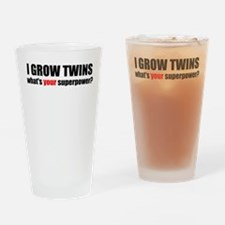 I grow twins Drinking Glass