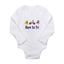 Born to Tri Long Sleeve Infant Bodysuit