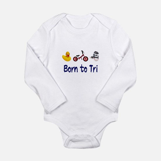 Born to Tri Long Sleeve Infant Bodysuit
