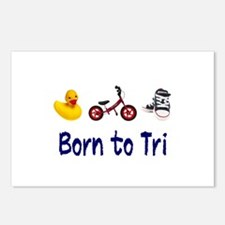 Born to Tri Postcards (Package of 8)