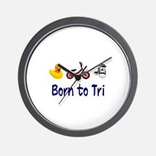 Born to Tri Wall Clock
