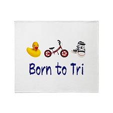 Born to Tri Throw Blanket