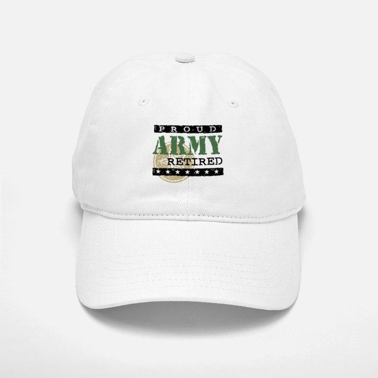 Proud Army Retired Baseball Baseball Cap