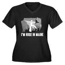 I'm Huge In Maine, Funny, Women's Plus Size V-Neck