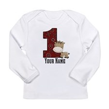 First Birthday Horse Long Sleeve Infant T-Shirt