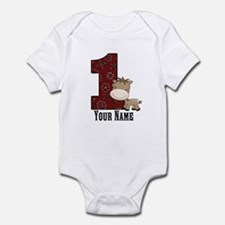 First Birthday Horse Infant Bodysuit