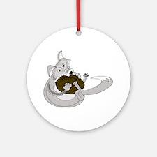 The Silver Fox Ornament (Round)