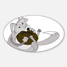 The Silver Fox Sticker (Oval)