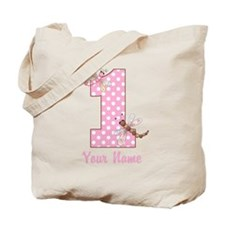 First Birthday Dragonflies Tote Bag