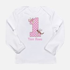 First Birthday Dragonflies Long Sleeve Infant T-Sh