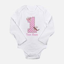 First Birthday Dragonflies Long Sleeve Infant Body