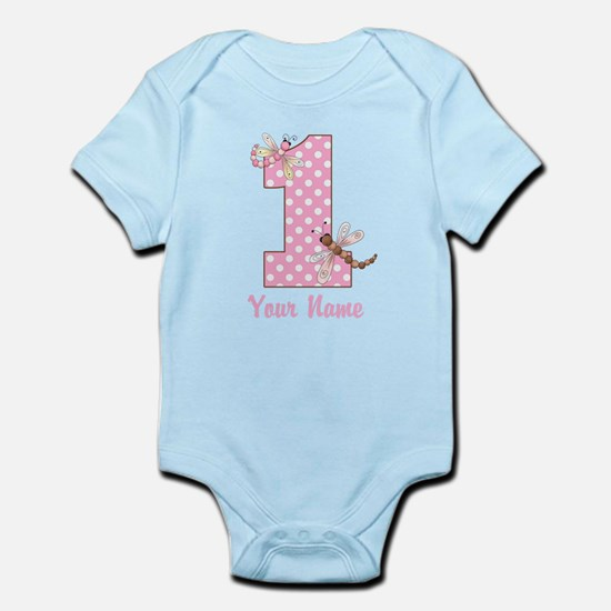 First Birthday Dragonflies Infant Bodysuit