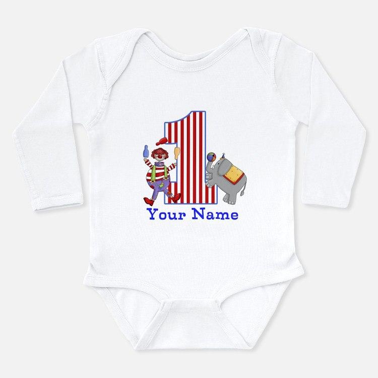 First Birthday Circus Long Sleeve Infant Bodysuit