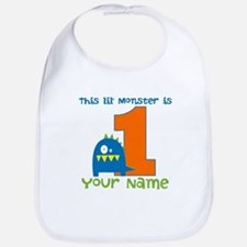 First Birthday Monster Bib