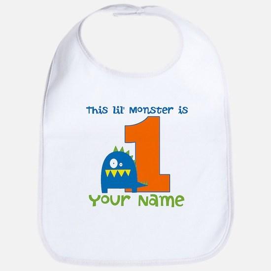 First Birthday Monster Bib