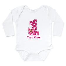 First Birthday Butterfly Long Sleeve Infant Bodysu
