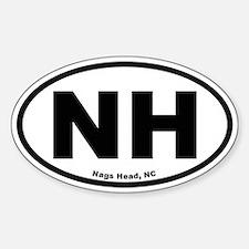 Nags Head Oval Oval Decal