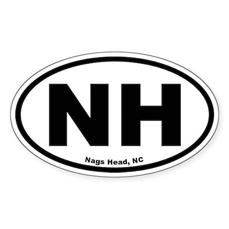 Nags Head Oval Oval Sticker