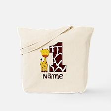 First Birthday Giraffe Tote Bag