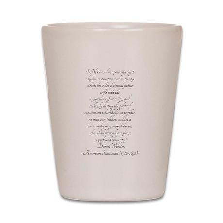 Daniel Webster Warning Shot Glass