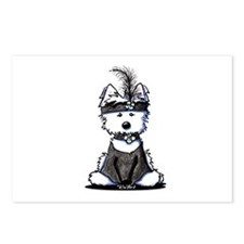 1920's Flapper Westie Postcards (Package of 8)