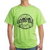 Jackson hole wyoming youth Green T-Shirt