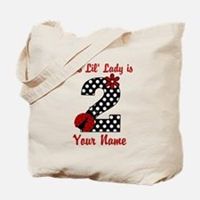 2nd Birthday Ladybug Tote Bag