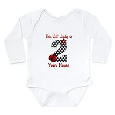 2nd Birthday Ladybug Long Sleeve Infant Bodysuit